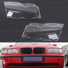 Mayitr Автомобильная фара, 1 пара, 4 двери, стеклянная крышка, прозрачная левая/правая фара, крышка объектива для BMW E46 02 06