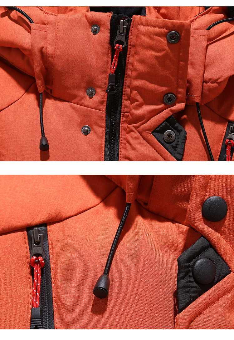 Chaqueta Parka acolchada de invierno 2020 para hombre, Parka corta y gruesa con capucha, Parka verde, negro, Azul, Naranja, M-3XL
