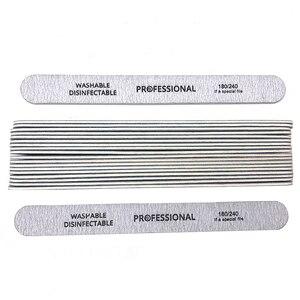 Image 5 - 100pcs/lot Professional Nail Files 180/240 Grinding Polishing Manicure Pedicure Double sided  Nail Buffers Tool Lixas Para Unhas