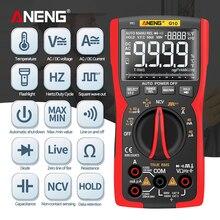 ANENG Q10 Tester Meter Capacitance Meter Digital Multimeter True RMS Analog DIY Transistor Capacitor NCV Tester