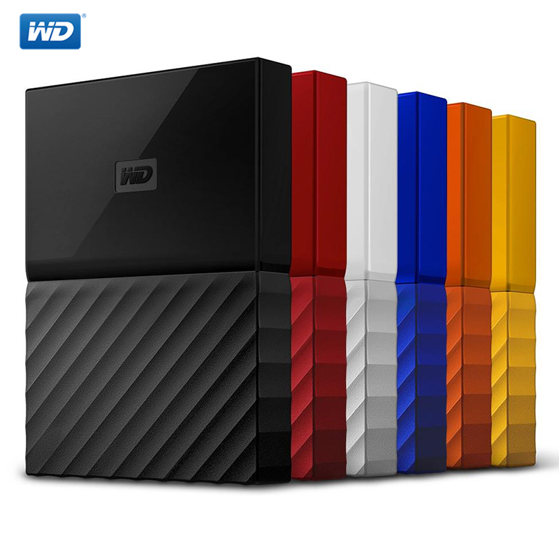 WD My Passport External Hard Drive Disk USB3.0 1TB <font><b>2TB</b></font> 4TB Portable Western Digital <font><b>HDD</b></font> HD Storage Devices SATA3 For Windows Mac image