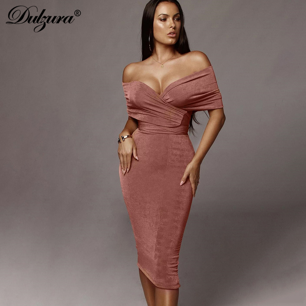 Dulzura 2019 Autumn Winter Women Two Piece Set Midi Skirt Bandage Elegant Bodycon Slit Sexy Party Festival Clothes Dinner Co Ord