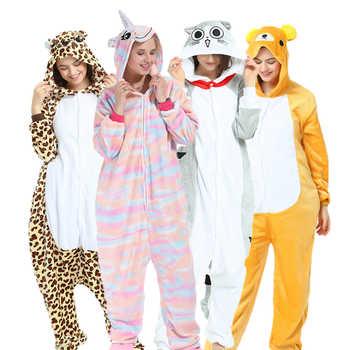 Unisex Winter Warm Cosplay Pajamas Unicorn Stitch Panda  Adults Animal   Onesies Pajamas Flannel Sleepwear Hoodie For Women Men - DISCOUNT ITEM  42% OFF All Category