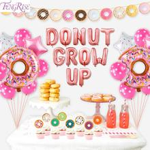 FENGRISE Soap Donuts Birthday Party Decoration Kids Baby Shower Supplies Ballon Donut Balloon Bar Decor