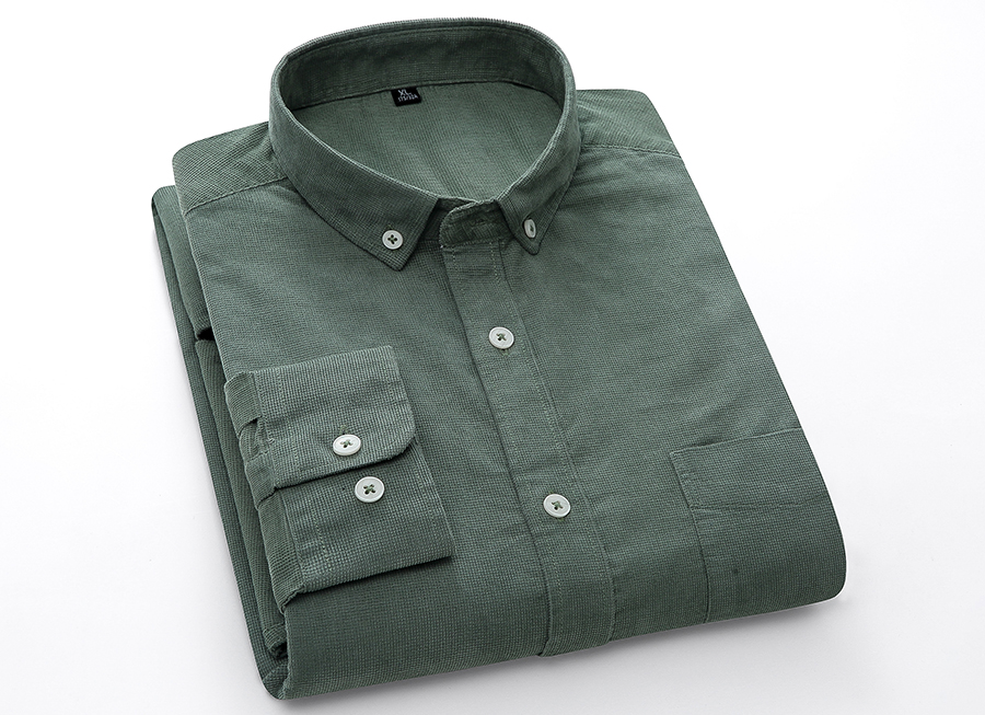 He97df23d59b243c6bdf0cdec5bb9fe37j Casual Mens Corduroy Shirt Pure Cotton Long Sleeve Brown Thick Winter XXL Regular Fit New Model Male Button Down Shirts