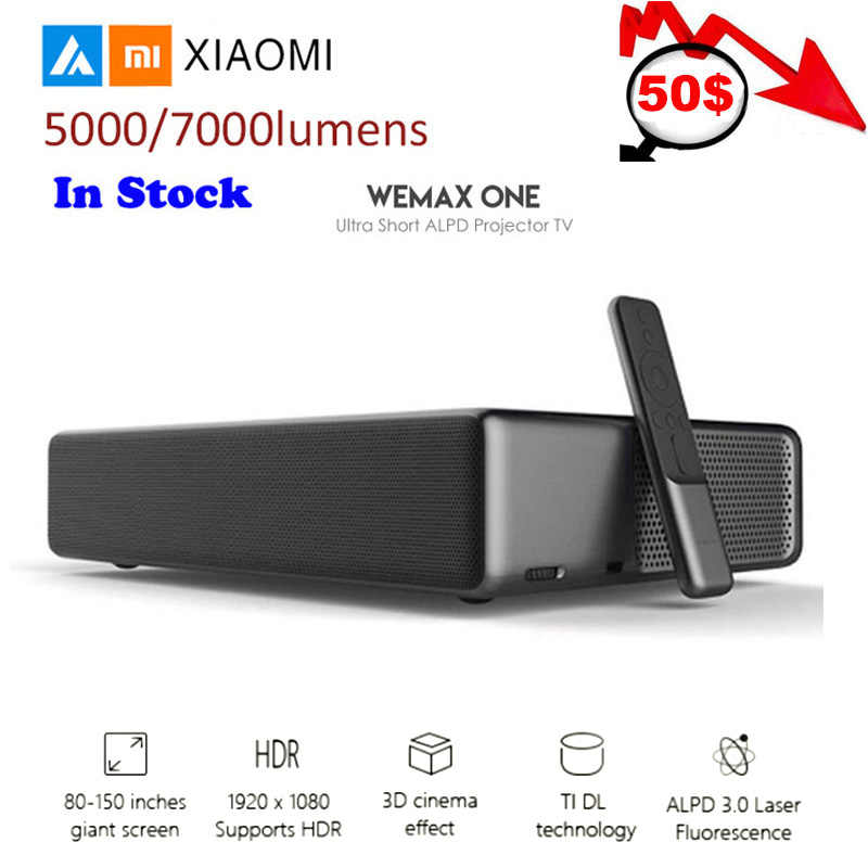 "Xiaomi Mi лазерный проектор Android WEMAX ONE PRO Lumens tv 150 ""дюймов 1080 Full HD 4K Bluetooth 4,0 Wifi 2,4 5 ГГц DOLBY DTS 3D"