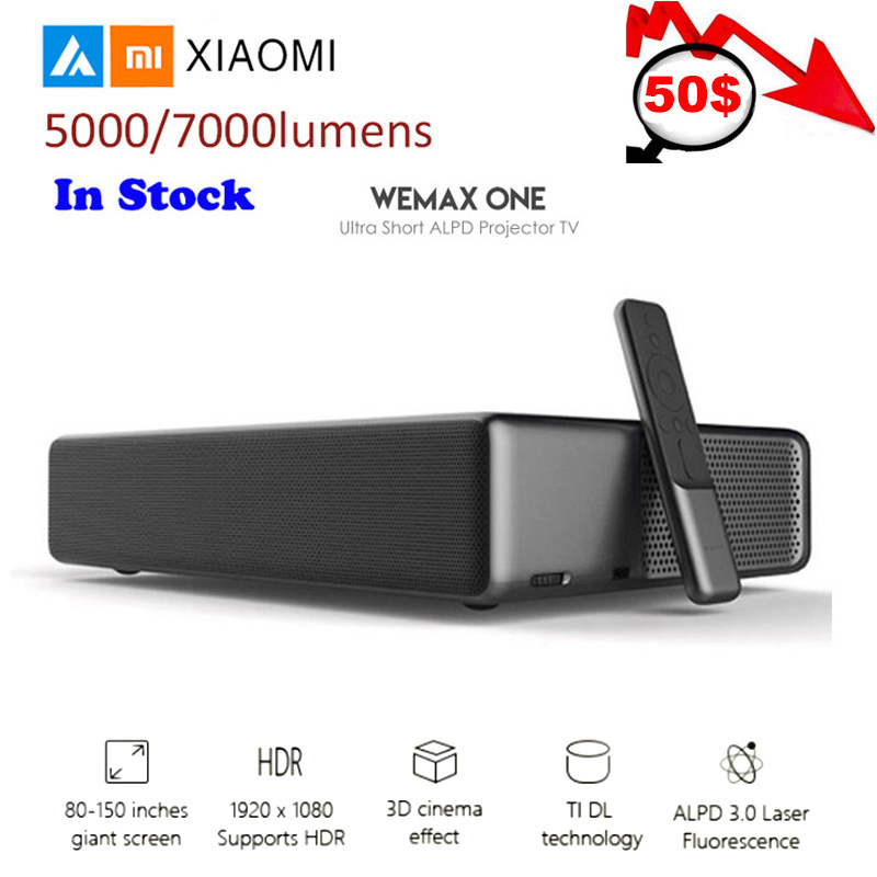 Xiaomi Wemax One PRO Laser Projector Android Lumens TV 150 1080 Full HD 4K Bluetooth4.0 Wifi 200-240V 2.4G/5GHz DOLBY DTS 3D image