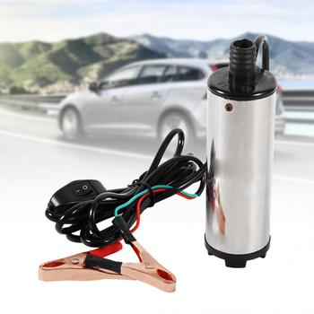 Portable 12V Stainless Steel Oil Diesel Fuel Liquid Transfer Pump Submersible fuel pump kit Domestic Delivery
