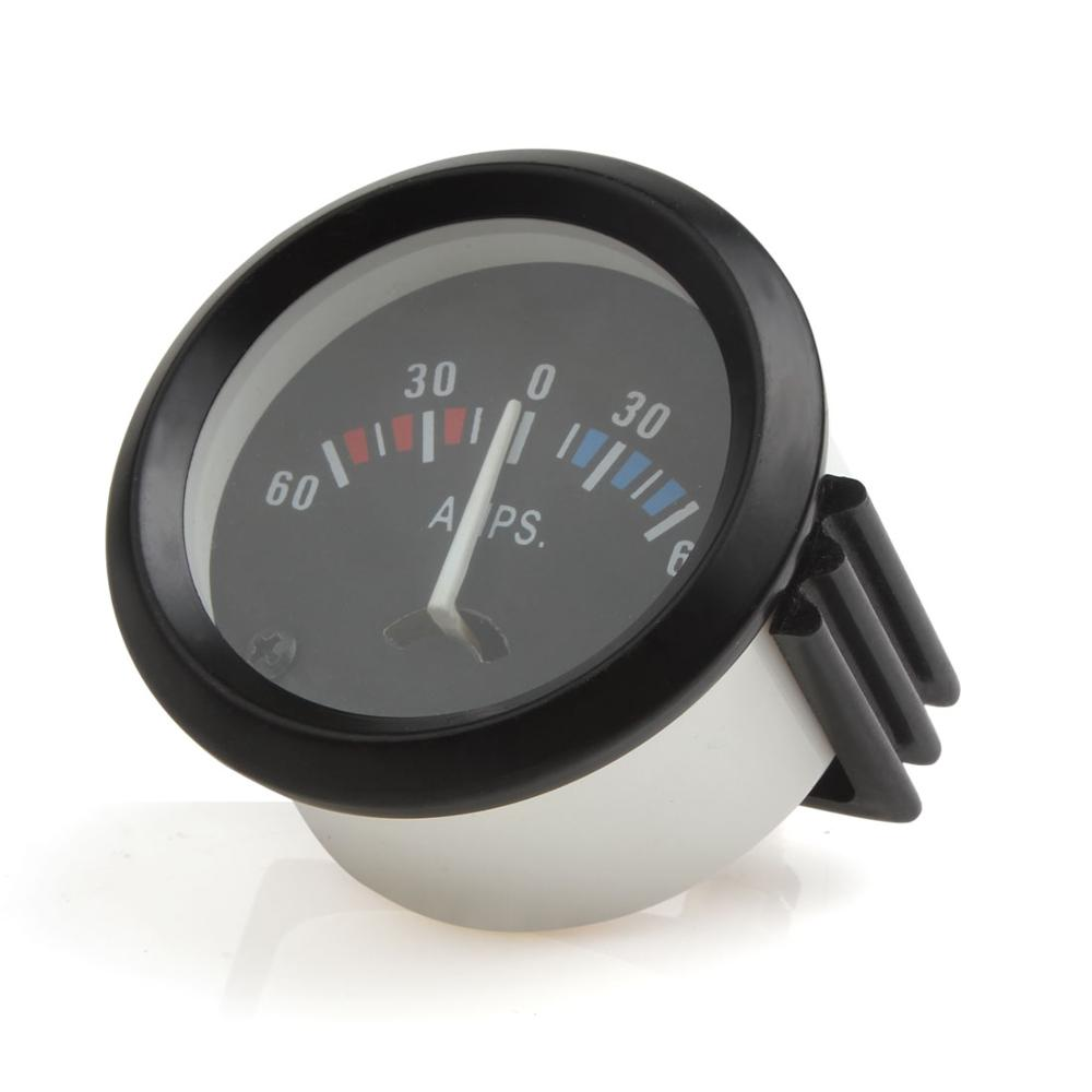 SHINEAB STORE 12V 60-0-60 AMP Ampere Meter Ammeter Universal Gauge 52m//2in Universal for Vehicle Analog Ammeter Car Accessories