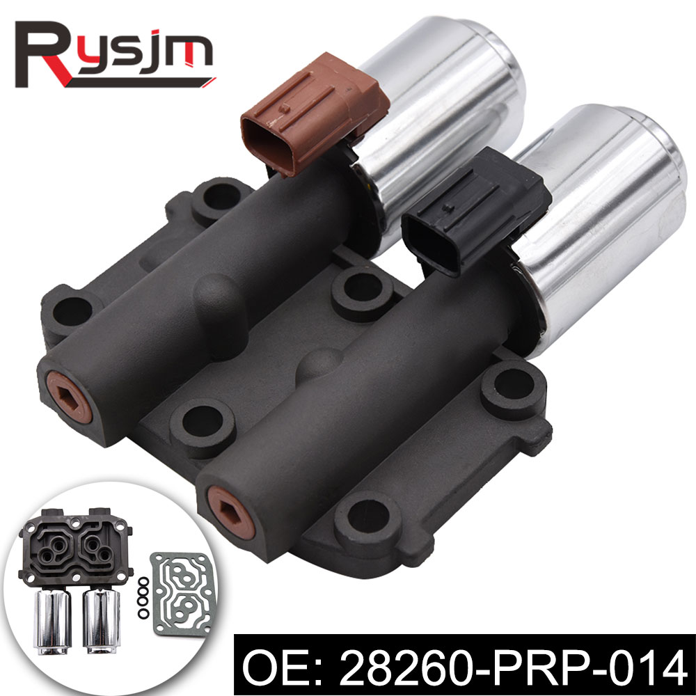 28260-PRP-014 Transmission Dual Linear Solenoid Valve fit for Honda Accord CR-V Element 2003-2008 4Cyl w  AutoTrans 28260PRP014