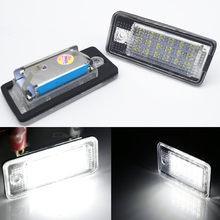 Canbus Error Free светодиодный Подсветка регистрационного номера номерной знак лампа для Audi Q7 A4 B6 B7 A5 A6 A8 RS4 RS6 S3 S4 S5 C5 C6 S6 S8 Q7