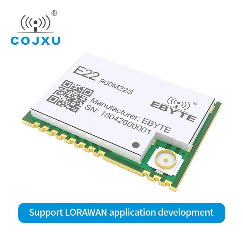 LORAWAN SX1262 LoRa TCXO Wireless Transceiver E22-900M22S SPI 868MHz SMD 915MHz SMD Ebyte Transmitter Receiver Rf Module
