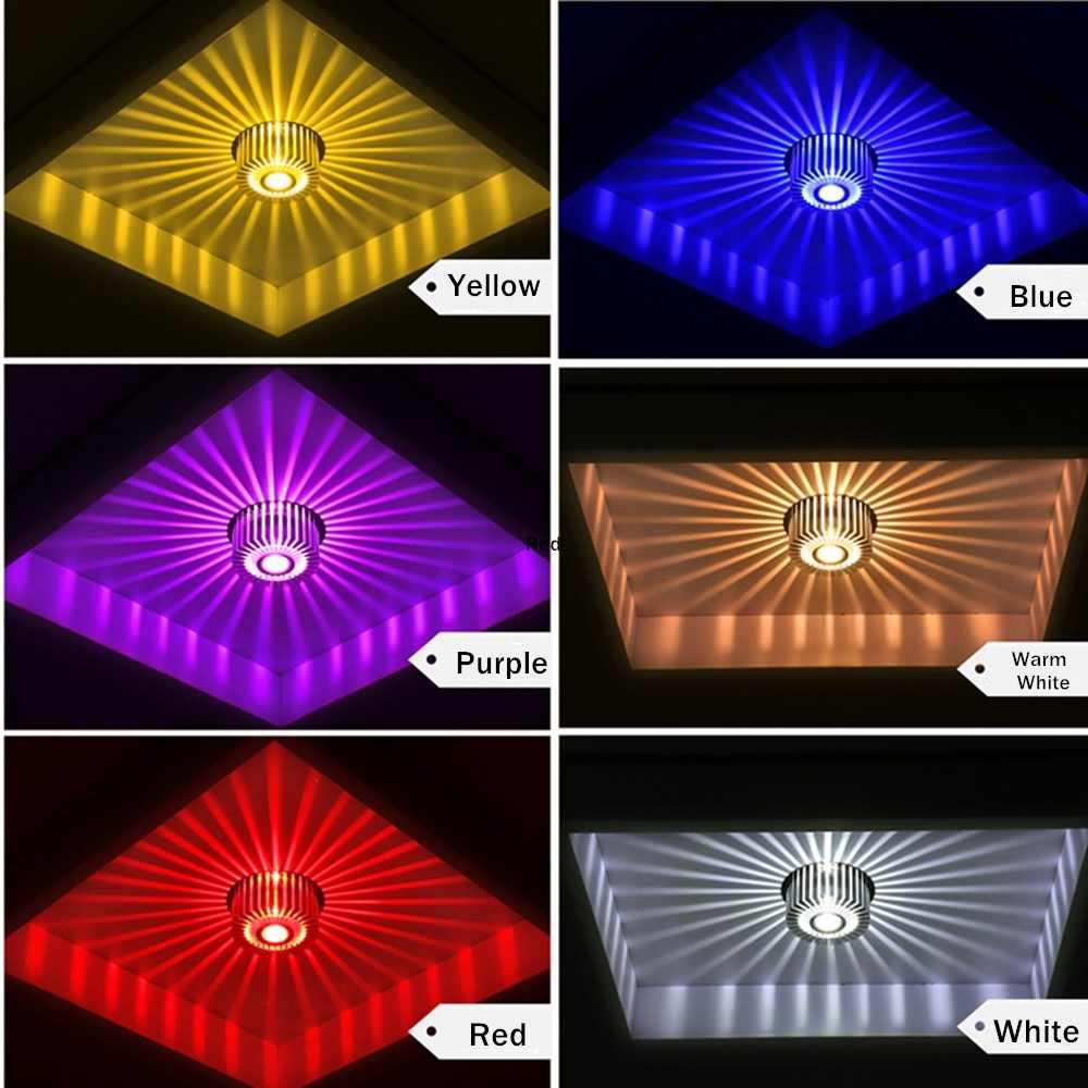 Baru Tersembunyi Led Lampu Spot Led Downlight 220V 110V Colorful LED Spot Light untuk Ruang Tamu KTV dekorasi Pesta Lampu