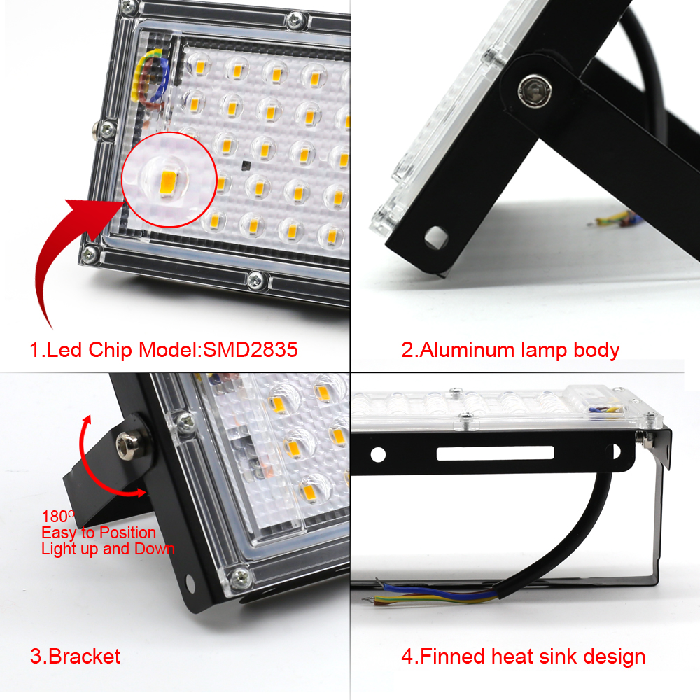 lowest price Led Floodlight AC 110V 220V Phyto Grow Lamp IP65 30W 50W 100W 150W Full Spectrum Outdoor Lighting Wall Lamp LED Flood Light