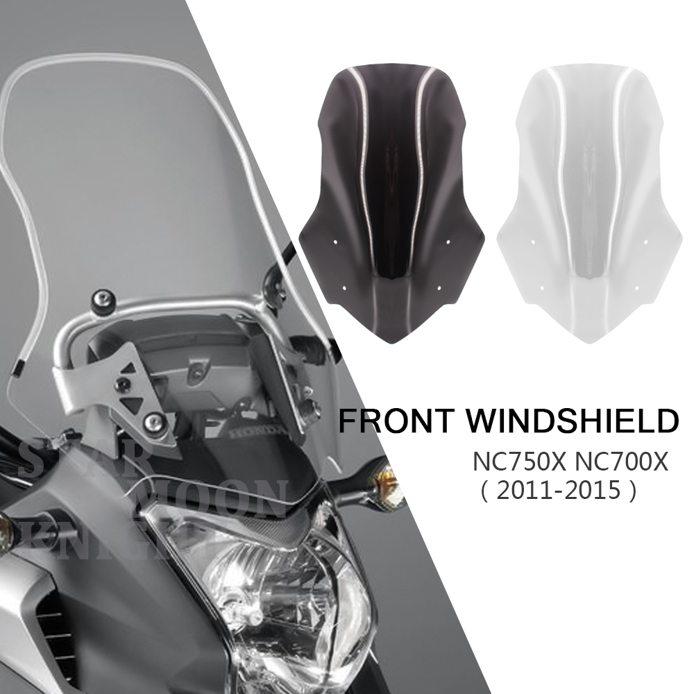 Motorcycle Accessories Screen Windshield Fairing Windscreen For Honda NC700X NC750X NC 750 700 X 2011 - 2015 2014 2013 2012 2011