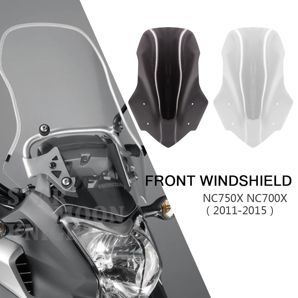 Motorcycle Accessories Screen Windshield Fairing Windscreen For Honda NC700X NC750X NC 750 700 X 2011 - 2015 2014 2013 2012 2011
