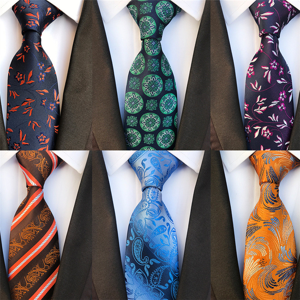 2020 New Paisley Floral Silk Ties For Men Wedding Necktie Blue Green Gold Yellow Mens Business Neck Tie Suit Accessories A079
