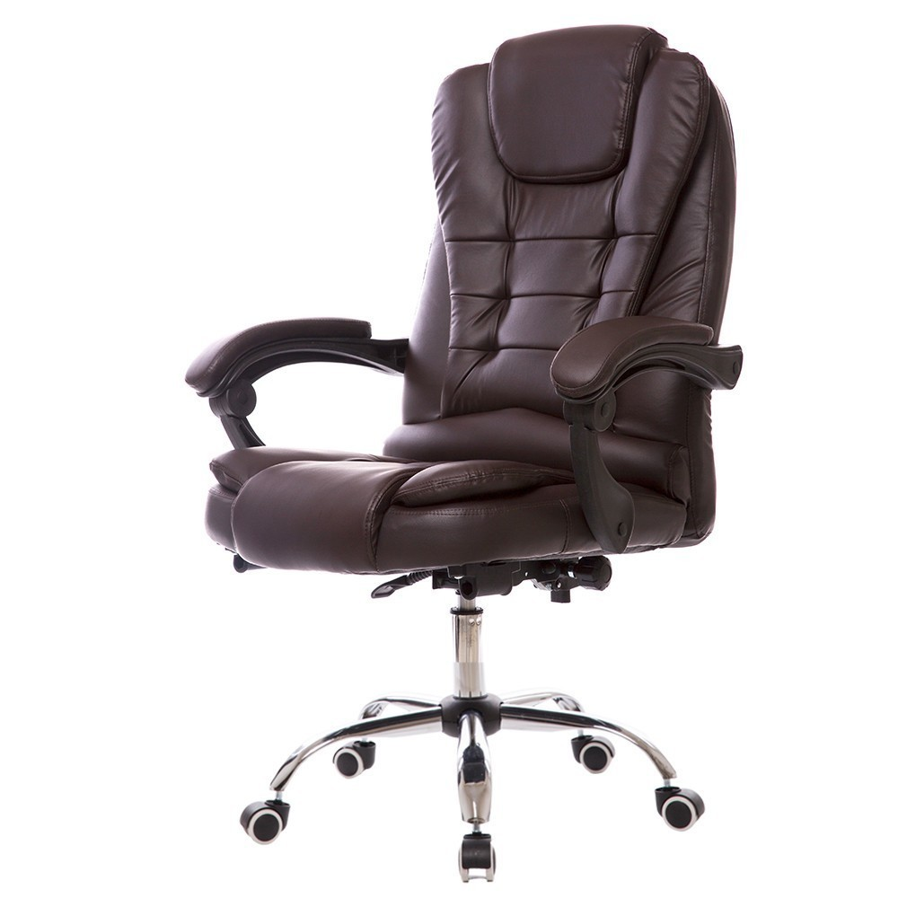 Luxury Quality H808-4 Live Office Gaming Boss Chair With Footrest Synthetic Leather Wheel Ergonomics Massage Office Furniture