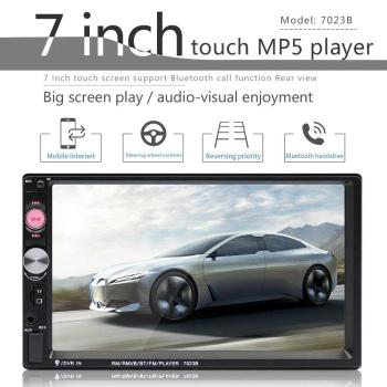 Universal 2din Car Multimedia Player Auto Radio Stereo 7 Touch Screen Video MP5 Player Auto Radio Backup Camera image