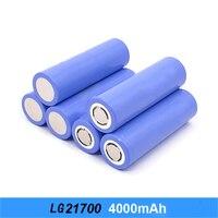 Batería recargable de iones de litio para linterna electrónica de coche, batería plana de 2021 V, 21700 mAh, capacidad real, 3,7, novedad de 4000
