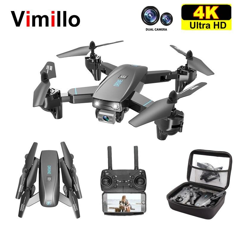 Vimillo S173 Mini Drone With 4K HD Dual Camera RC Quadcopter WIFI FPV Profensional Drones Con Copter Toys Gift Vs S167 SG107