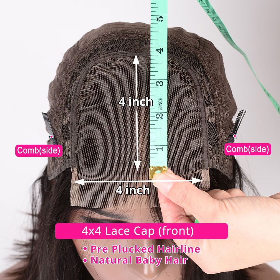 Kinky Straight Wig Short  Wigs  13x4 Lace Front Cheap Yaki  Wig 4*4 Bob Lace Closure Wig  5