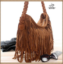 Fashion Solid Scrub Faux fur Women Trending Cross Body Bag Tassel Suede Fringe Messenger Shoulder Handbag Bolsa Feminina