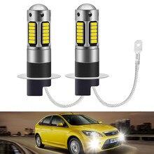 2 sztuk H3 H1 880 881 led światło przeciwmgielne żarówka jazdy 12V lampa przeciwmgielna reflektor biały 6000K reflektor samochodowy CANBUS samochodów przednie światła przeciwmgielne DRL