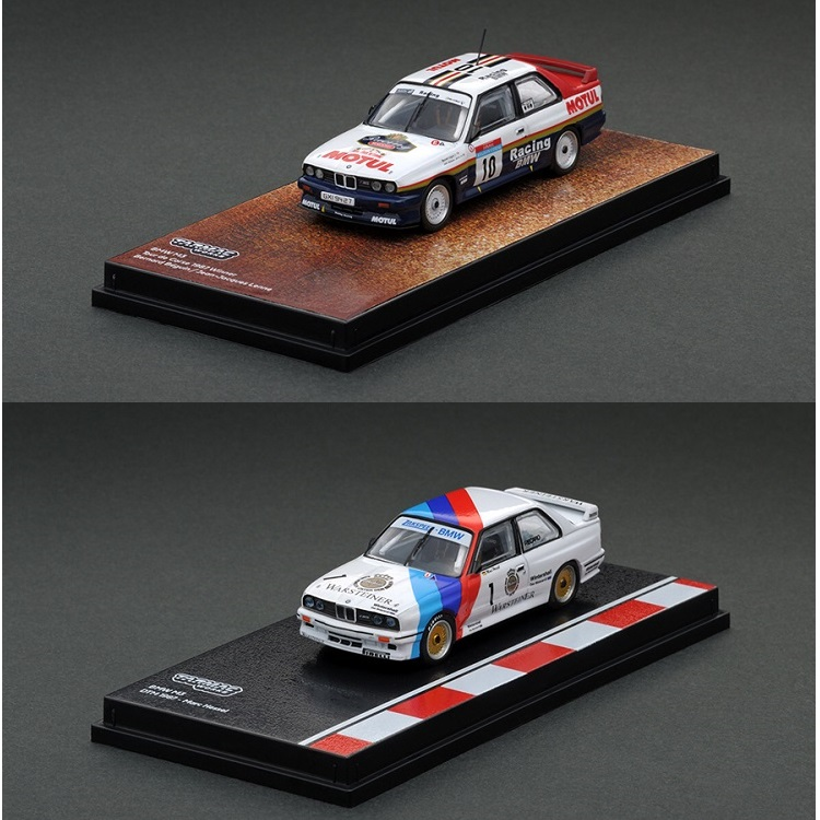 Tarmac Works 1:64 M3 DTM 1987 #1 Marc Hessel / Tour de Corse 1987 Winner #10 Racing Diecast Model Car