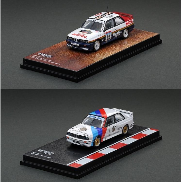 Tarmac Works 1:64 M3 DTM 1987 #1 Marc Hessel / Tour De Corse 1987 Winner #10 Racing Diecast Model Car