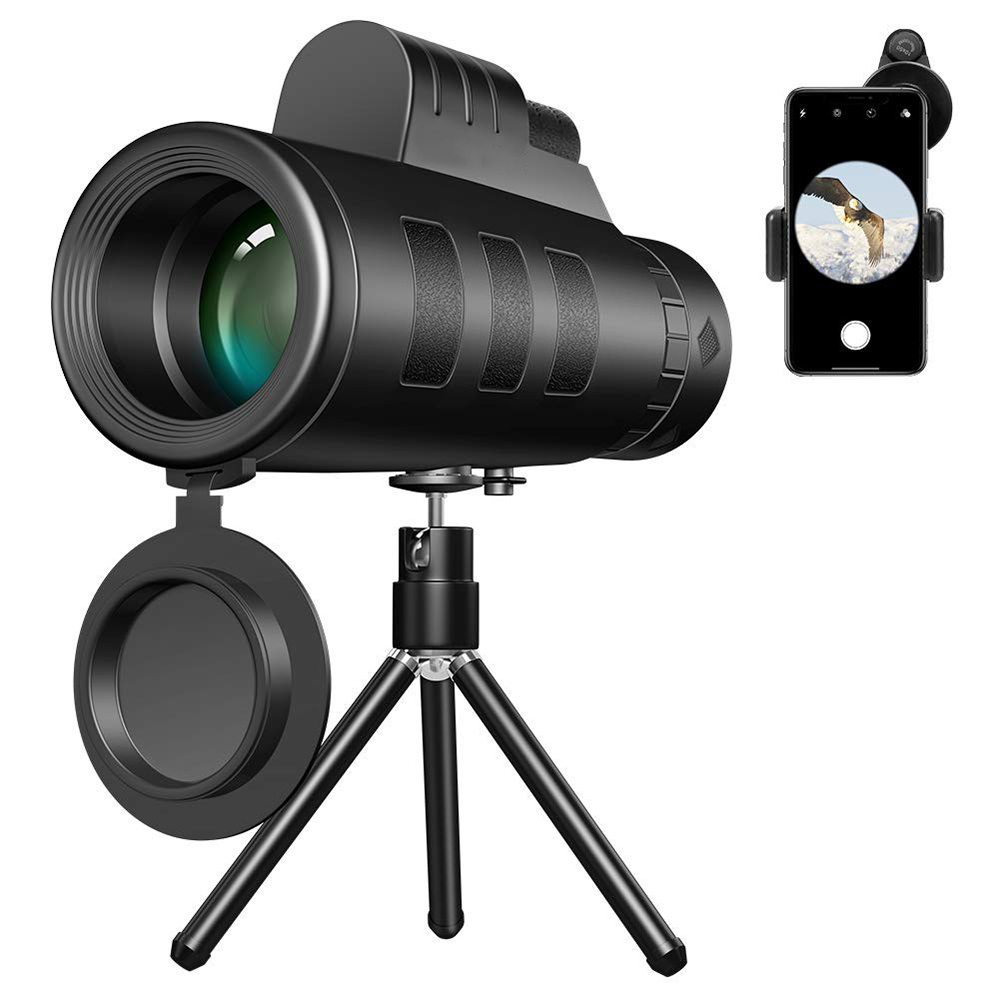 TOKOHANSUN Universal 40x60 Monocular Zoom HD Optical Cell Phone Lens Observing Survey telephoto lens with tripod for Smartphone|Mobile Phone Lens|   - title=