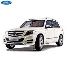 WELLY 1:18 Mercedes GLK off-road vehicle Alloy Retro Car Model Classic Car Model Car Decoration Collection gift