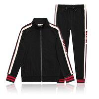 Star bags GG letter sports casual jacket set with various Korean popular logo men's long sleeve shirt long pants business suit