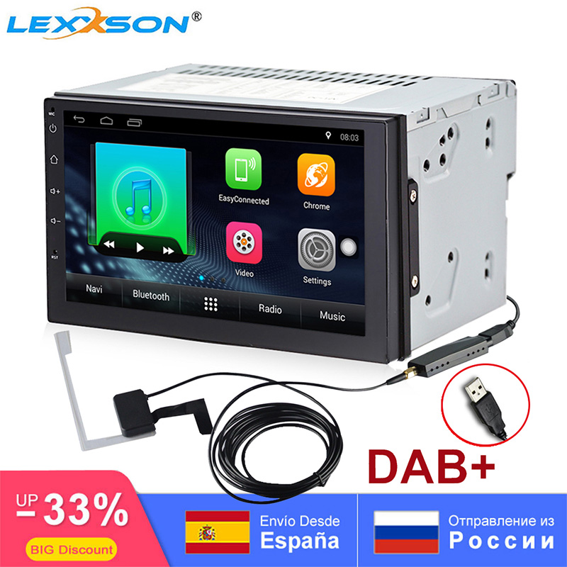 DAB 2Din Android 7.1 Head Unit Car Multimedia Player GPS Navigation Auto Radio FM/AM Mirror Link Bluetooth SWC universal mic RDS image