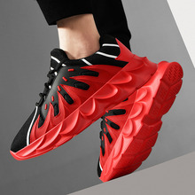 Autumn Red Flame Light Sport Running Shoes Men Outdoor Sports Sneakers Male Breathable Mesh Fabric 2019 Fashion Non-slip Shoe