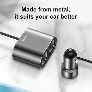 Image 5 - Baseus車のスプリッタのシガーライターデュアルusb車の充電器3.1A急速充電器車用ライターxiaomi