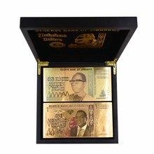 лучшая цена Zimbabwe Paper Money Banknotes Fake Money Bill One Vicintillion Dollars Bill 24K Gold Banknotes with UV Light for Souvenir