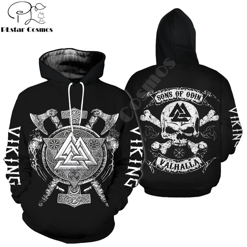 Sons Of Odin Viking Tattoo 3D Printed Men Hoodie Harajuku Fashion Hooded Sweatshirt Street Autumn Unisex Hoodies Jacket WSR-66