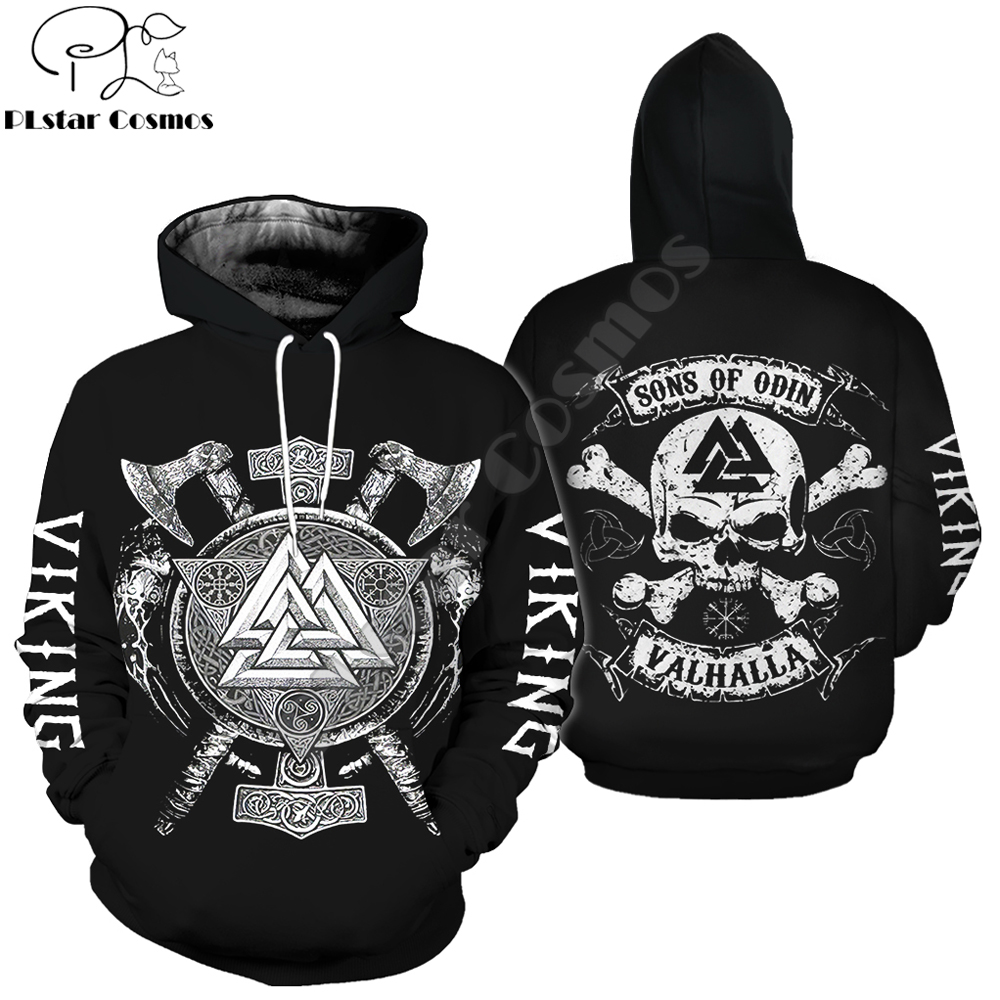 Sons Of Odin Viking Tattoo 3D Printed Men Hoodie Harajuku Fashion Hooded Sweatshirt Street Autumn Unisex hoodies jacket WSR-66