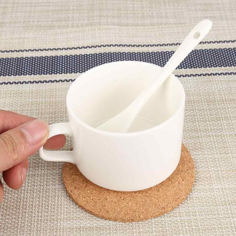 50 Pcs Natural Cork Coaster Minuman Kopi Cangkir Mat Tahan Panas Cork Coaster Mat Tabel Dekorasi Grosir Ramah Lingkungan