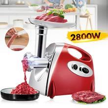 2800W Electric Meat Grinders Heavy Duty Grinder Kitchen Meat Mincer Sausage Stuffer Maker Food Processor Electric Meat Slicer