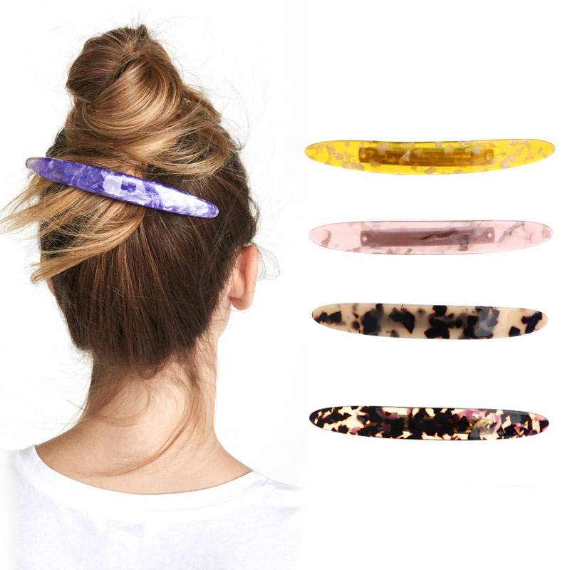 wholesale New high quality hair barrettes Cellulose Acetate acrylic products for women girls