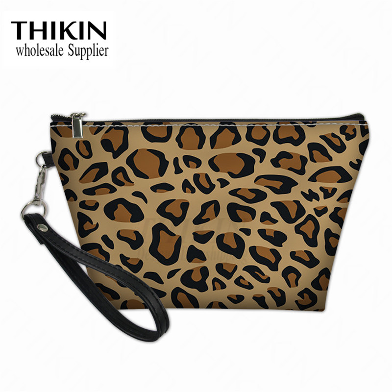 THIKIN KeywordAnimal Print Ladies Wash Pouch Make Up Organizer Toiletry Storage Bag Women Custom Travel Cosmetic Case Handbags
