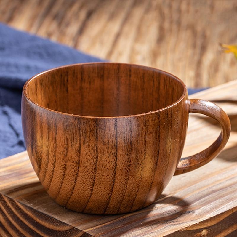 5X5cm Angoily 2 Tazas de T/é de Madera Natural de Madera S/ólida Japonesa Taza de Caf/é Teaware Taza de Cerveza de Vino Ligero para Beber T/é Caf/é Bebidas Calientes 6