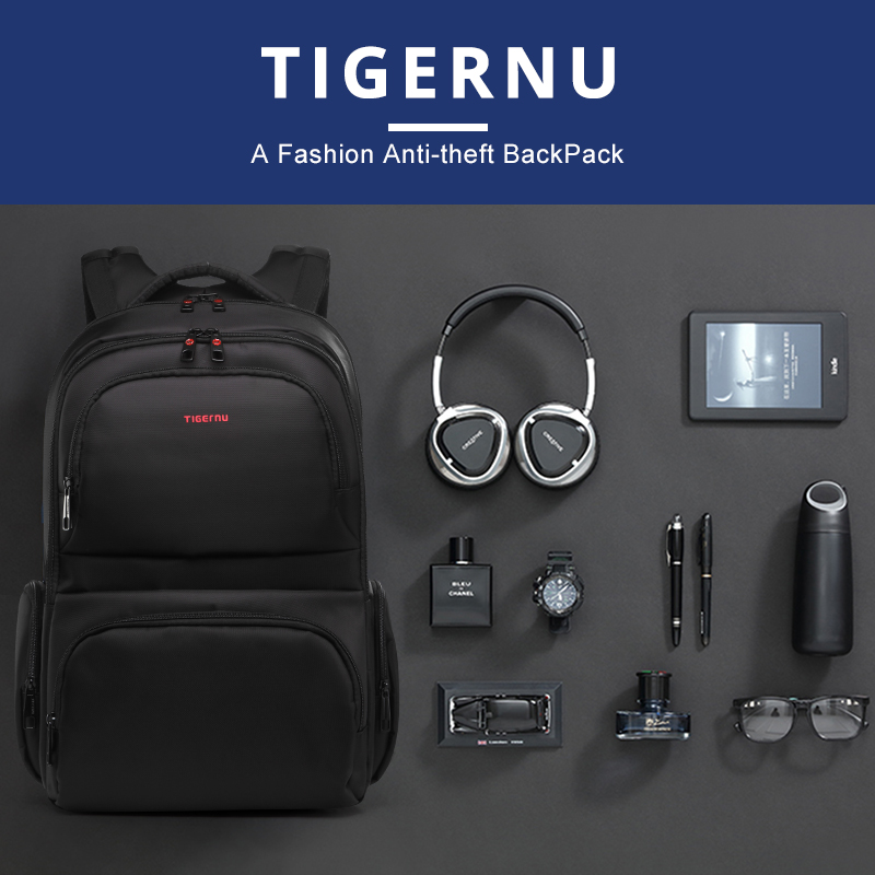 แบรนด์ Tigernu กันน้ำ 15.6 นิ้วแล็ปท็อปกระเป๋าเป้สะพายหลังกระเป๋าเป้สะพายหลังกระเป๋าเป้สะพายหลังกระเป๋านักเรียนสำหรับวัยรุ่นหญิง-ใน กระเป๋าเป้ จาก สัมภาระและกระเป๋า บน   3