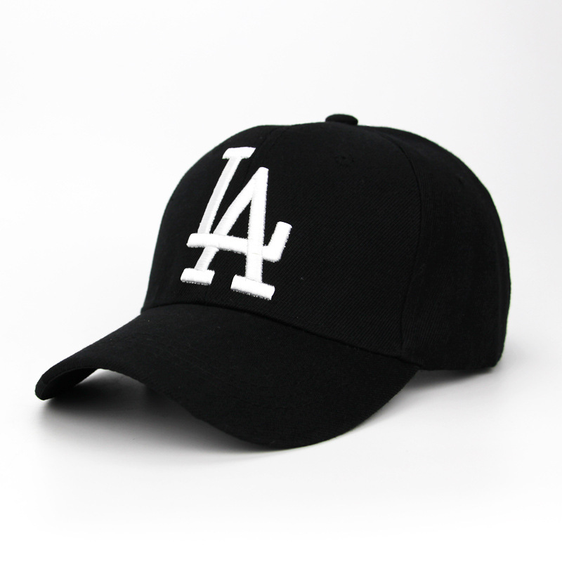 Street Fashion Embroidery LA Europe And America Tide Shooting Adult Baseball Cap Men&Women Solid Color Letter Cap Outdoor Hats