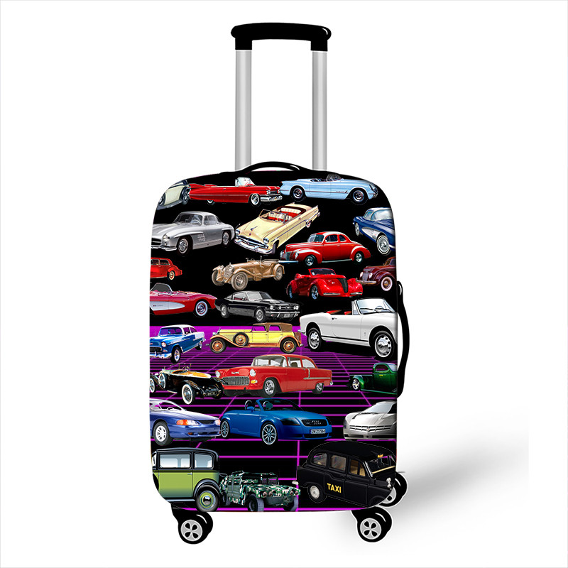 18-32 Inch Cool Car / Van Print Accessories Luggage Cover For Boys Girls Suitcase Protective Cover Elastic Trolley Bag
