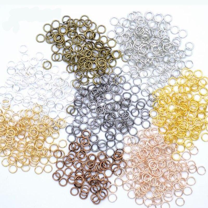 200 unids/lote 4 5 6 7 8 9 10mm saltar anillos conectores de anillos partidos para Diy joyería encontrar haciendo accesorios suministros al por mayor