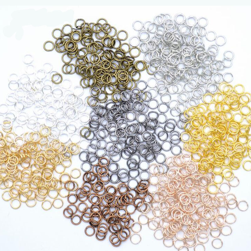 200pcs/lot 4 5 6 7 8 9 10mm Jump Rings Split Rings Connectors For Diy Jewelry Finding Making Accessories Wholesale Supplies Jewelry Findings & Components  - AliExpress