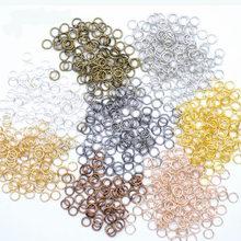 Anneaux de saut, connecteurs pour la fabrication de bijoux, accessoires, vente en gros, 4 5 6 7 8 9 10mm, 200 pièces/lot